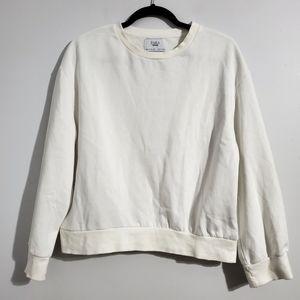 Zara White Cozy Sweater Size S